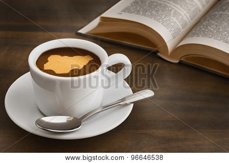 Still Life - Coffee With Map Of Nigeria