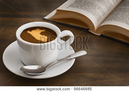 Still Life - Coffee With Map Of Peru