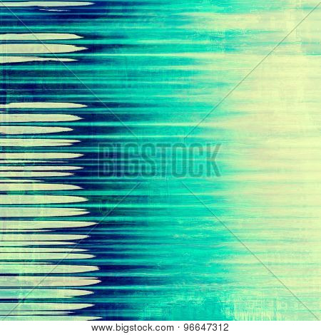 Old designed texture as abstract grunge background. With different color patterns: yellow (beige); green; blue; cyan