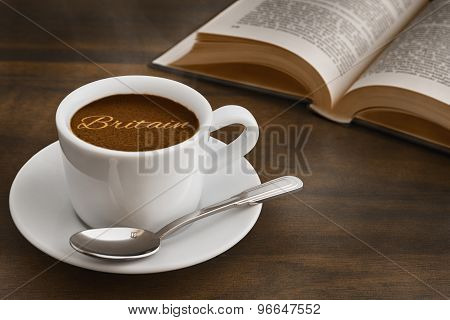 Still Life - Coffee With Text Britain