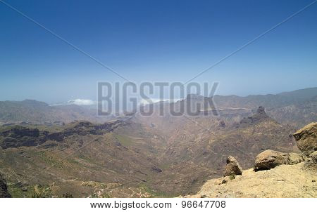 Inland Central Gran Canaria, View West From Roque Nublo
