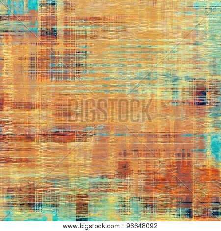 Old abstract grunge background for creative designed textures. With different color patterns: yellow (beige); brown; blue; red (orange)