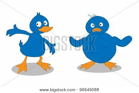 A Blue Duckling & A Blue Chick
