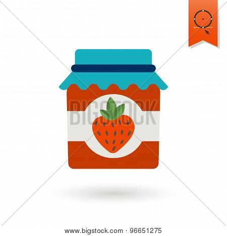 Jar of Strawberry Jam