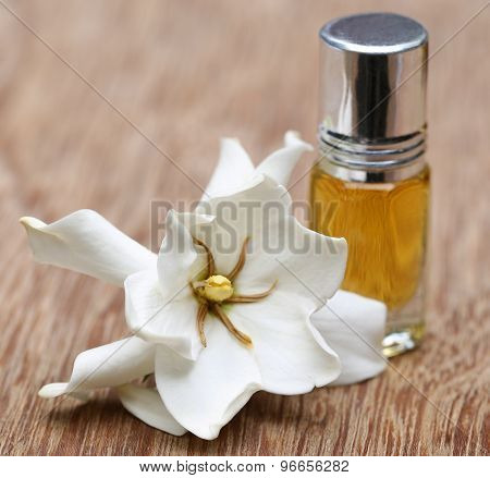 Gardenia Or Gondhoraj Flower With Essence Bottle