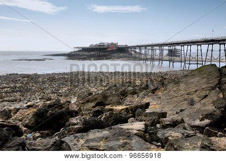 Birnbeck Pier Weston Super Mare In HDR