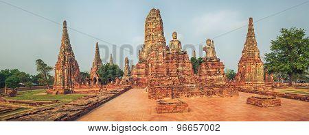 Wat Chaiwatthanaram. Ayutthaya historical park. Panorama