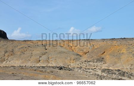 Dry Landscape On An Islet