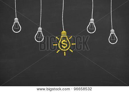 Finance Idea Conceptual on Blackboard