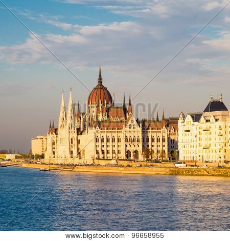 View Of Hungarian Parliament Building