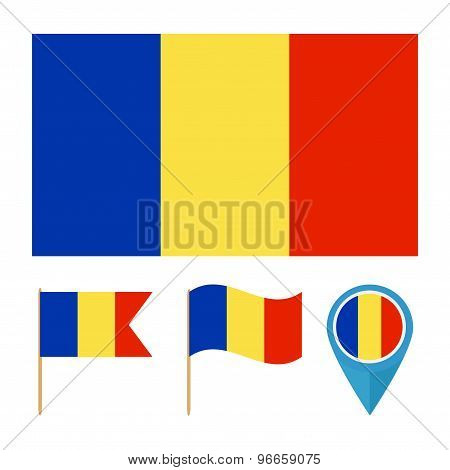 Chad,country Flag