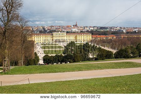 Vienna Panorama And Schonbrunn Palace View