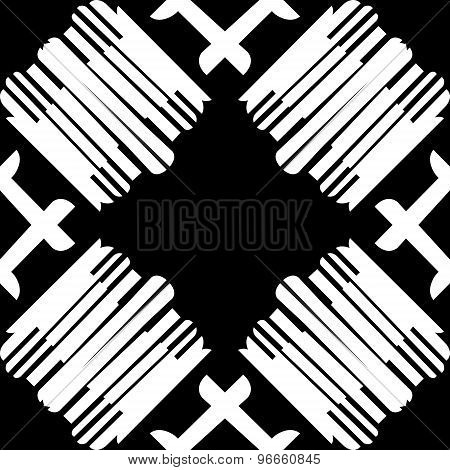 Repeating Tiled White Lines