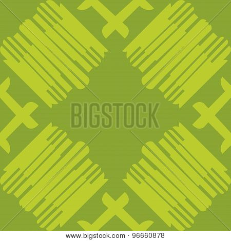 Green Seamless Tiled Lines