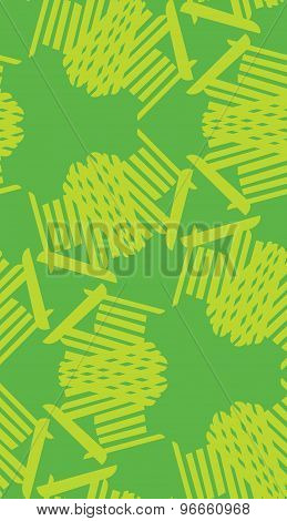 Green Seamless Line Pattern