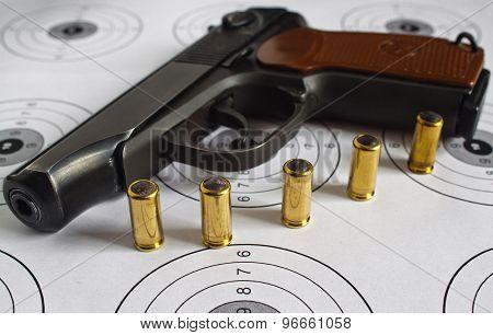 Black gun.