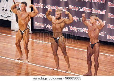 Male bodybuilders showing their best