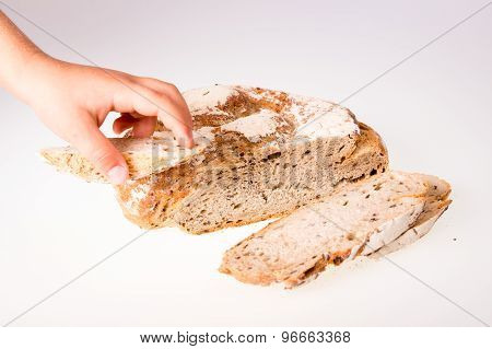 Loaf of bread isolated