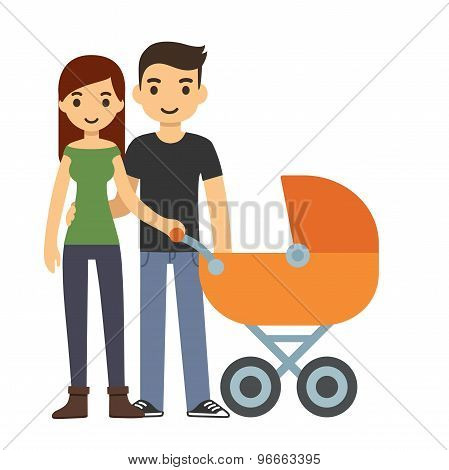 Couple With Stroller