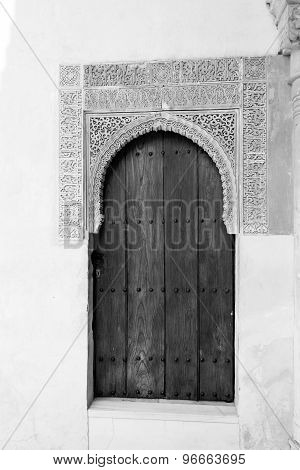 Black And White Door In Alhambra