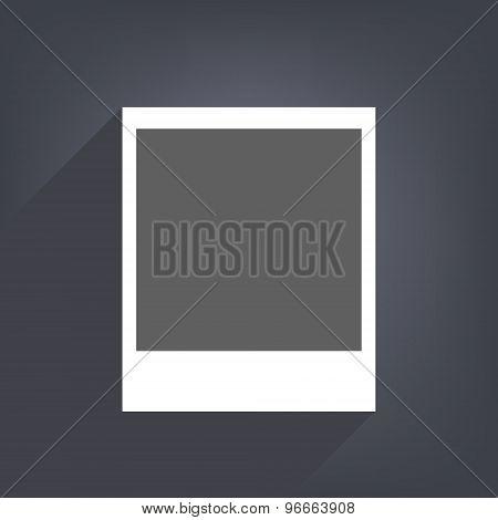 Vector illustration of photo blank.