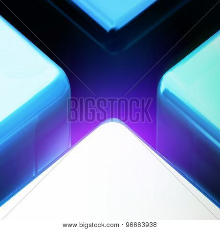Blue Color Big Lighting Cross Crack Abstract Background