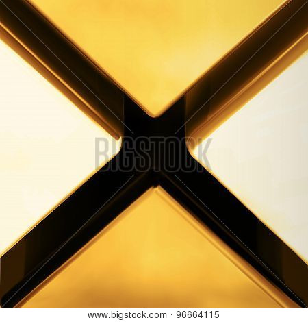 Gold Color Cross Crack Abstract Background