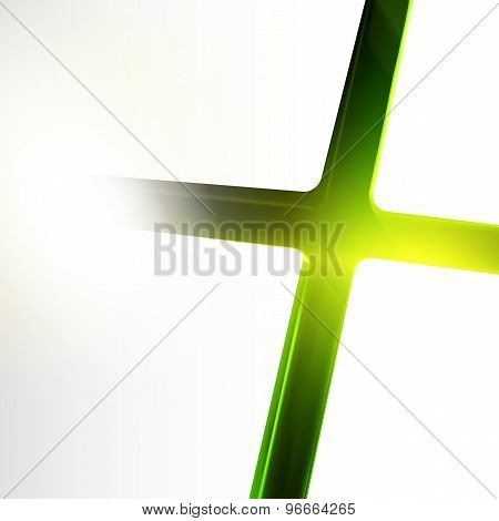 Green Color Downhill Lighting Cross Crack Abstract Background