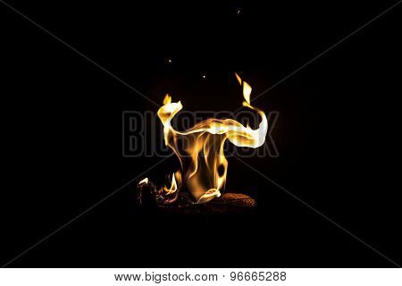 Image of dancing fire by night