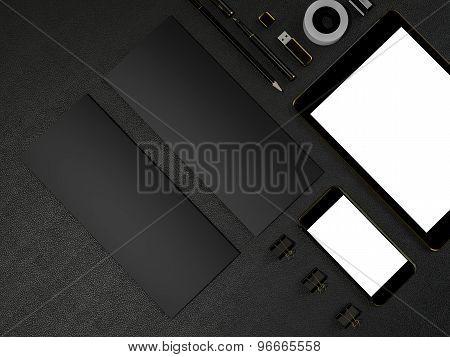 Black Branding Mockup High Resolution