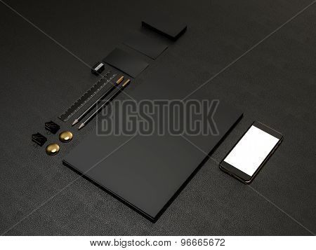 Black Branding Mockup High Resolution