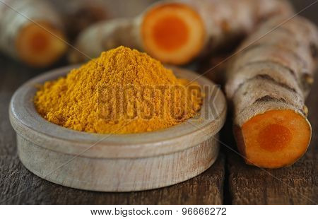 Raw And Ground Turmeric