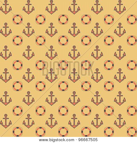 Flat navy seamless pattern