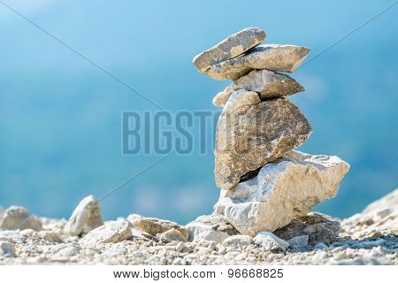Stone Stack. Greece