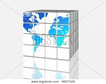 White World In Cubes