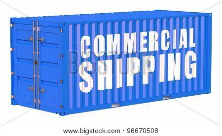 Cargo Container, Comercial Shipping Concept