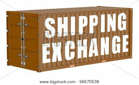 Cargo Container, Shipping Exchange Concept