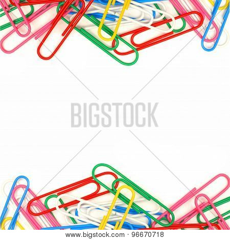 Double border of paper clips