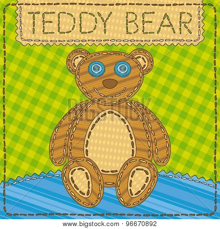 Funny patchwork with the Teddy Bear
