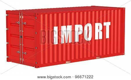 Import Concept With Cargo Container