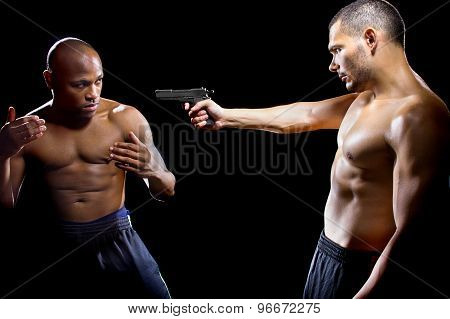Disarming a Gun by Close Quarter Combat