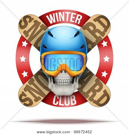 Snowboarding club or team badges and labels logo