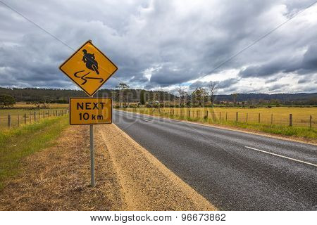 Motorcyclists road signs