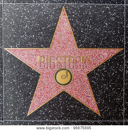 Phil Collins Star On Hollywood Walk Of Fame