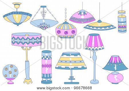 Lamps Doodles