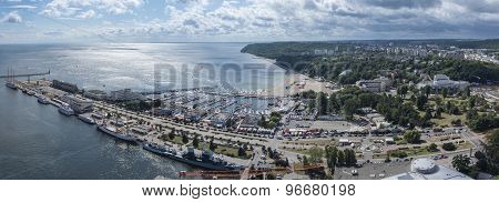 Panorama Of Gdynia Kosciuszko Harbor, Poland