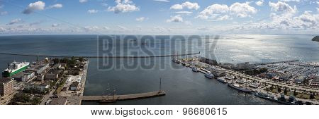Panorama Of Gdynia Harbor, Poland