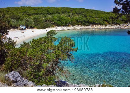 amazing panorama of Emblisi Fiskardo Beach