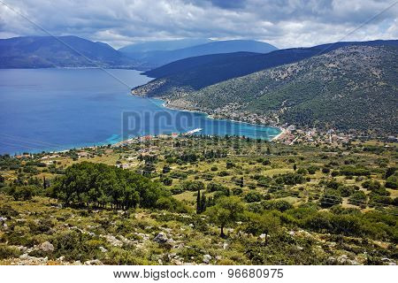 Panoramic view of Agia Efimia town, Kefalonia