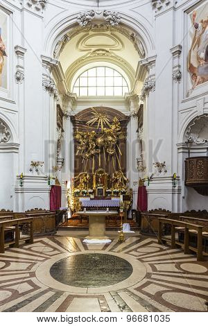 Inside The Trinity-church In Salzburg